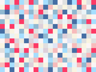 marine pattern with red ,white and blue squares