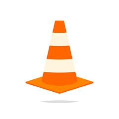 Traffic cone icon vector
