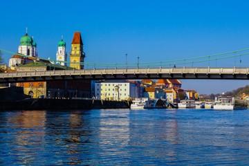 Blick zum Passauer Hafen