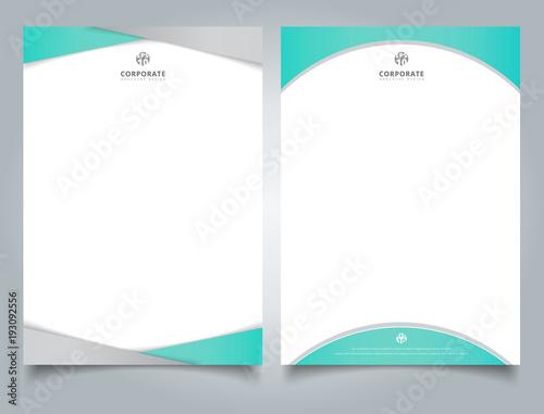 Abstract Creative Letterhead Design Template Light Blue