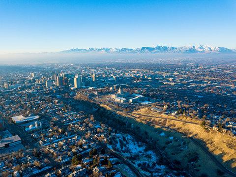 Aerial photo of Salt Lake City
