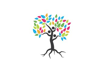 family tree symbol icon logo design