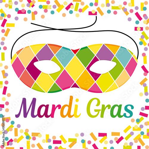 Mardi Gras Illustration Vectorielle De Carnaval Avec Un Masque D