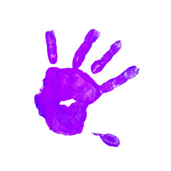purple children hand print