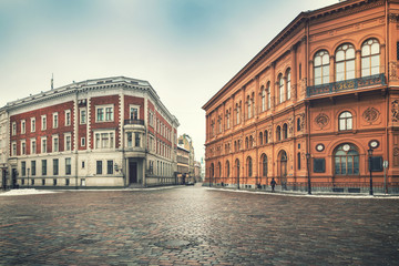 Riga old town - historical buildings at Dome square