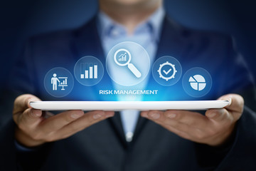Risk Management Strategy Plan Finance Investment Internet Business Technology Concept Wall mural
