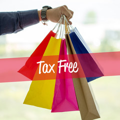 Shopping Concept: Tax Free