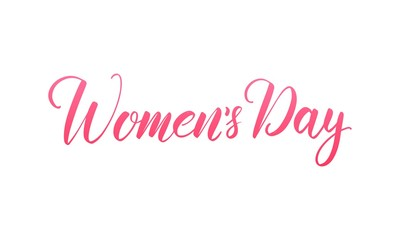 Women's Day March 8. Script lettering calligraphy for International Women's Day