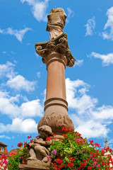Obernai. Fontaine sainte Odile. Bas Rhin, Alsace. Grand Est