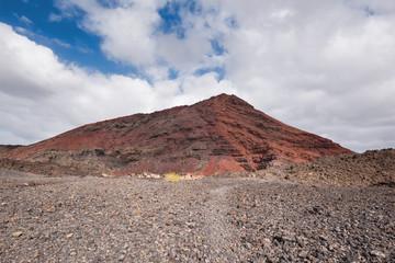 Volcanic crater (Montana Bermeja) in Lanzarote, Canary islands, Spain.