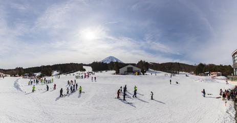 Fujiten Snow Resort is a small ski resort along the northern base of Mount Fuji in the Fuji Five Lakes region.