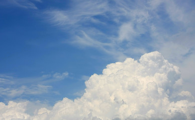 abstract clouds in blue sky