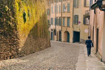 Venetian old walls, Unesco World Heritage, in Bergamo city, Lombardy, Italy, Europe