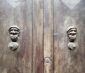 old door with handles made by little gnome