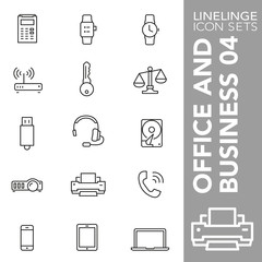 High quality thin line icons of office equipment business item. Linelinge are the best pictogram pack unique linear design for all dimensions and devices. Stroke vector logo symbol and website content