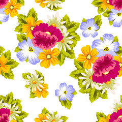 abstract seamless pattern of flowers. for card designs, greeting cards, birthday invitations, Valentine's day, party, holiday.