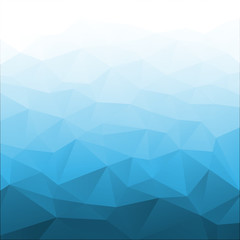 Abstract Gradient Blue Geometric Background. Vector illustration.