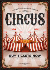 Vintage Western Circus Poster