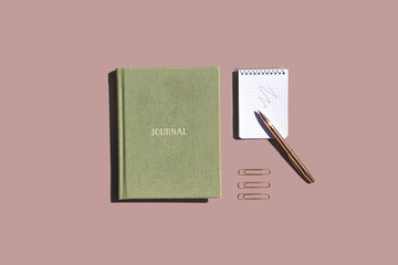 Office Stationery on Colorful Background