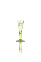Antique liqueur chalice isolated on white background