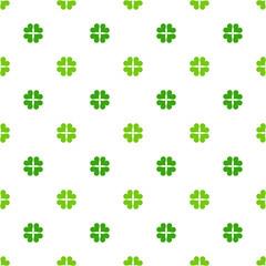 Green clover leaves pattern