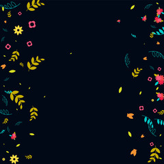 Floral Spring and Summer Vector Wallpaper with Flowers, Leaves, Butterflies, Green Branches. Easter, Mother's Day, 8 March, Birthday, Wedding Background for Banners, Cards, Posters, Invitations.