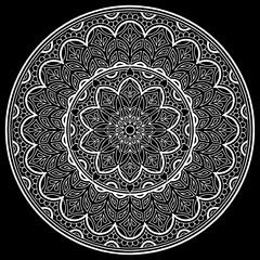 Mandala pattern white