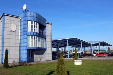 A view shows the checkpoint Rava-Ruska