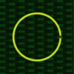 Shining Green Circle, Blank VECTOR Frame Template, Eco Energy Concept.