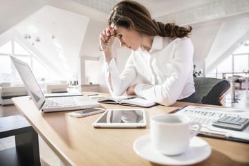 businesswoman work in office