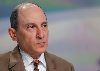 Qatar Airways Chief Executive Akbar Al Baker attends a news conference before Airbus delivers the first A350-1000, the largest member of the new Airbus wide-body family and the largest twin-engined jet built in Europe, to Qatar Airways, in Blagnac