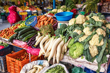 Fruit and Vegetable Market, Pokhara; Nepal