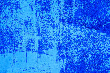 Blue painted old metal background for arts, creativity and design.