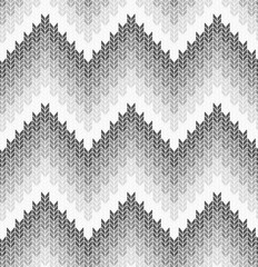 The geometric pattern with wavy lines. Seamless vector background. White and grey texture.