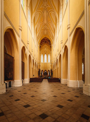 Interior of Cathedral of the Assumption of Our Lady at Sedlec, Kutna Hora, Czech Republic