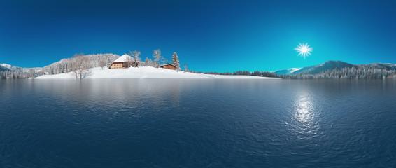 See im verschneiten Schwarzwald 360° Panorama