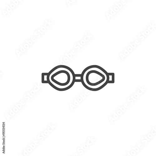8452072e85e5 Swimming glasses outline icon. linear style sign for mobile concept and web  design. simple line vector icon. Symbol