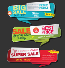 Modern super sale flat banner collection