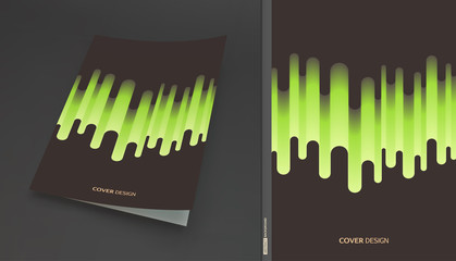 Cover design template. Abstract wavy background for banner, flyer and poster. Dynamic effect. Vector illustration. Can be used for advertising, marketing, presentation.