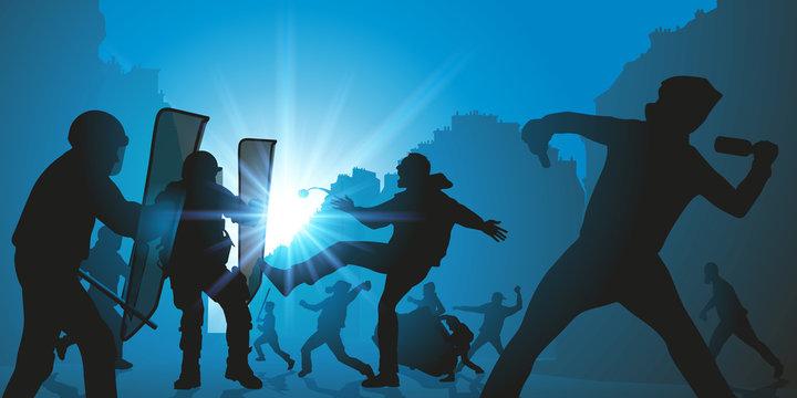 manifestation - manifestant - manif - émeute -police - manifester - conflit social - violence - plan social