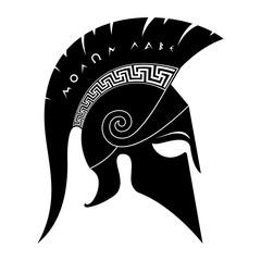 Spartan helmet black