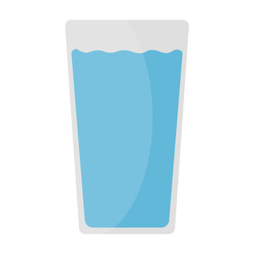 glass of water vector icon illustration flat design