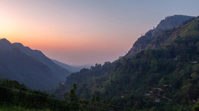 Beautiful morning of Ella, Sri Lanka