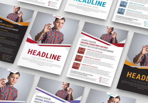 Overlapping Angles Business Flyer Layout