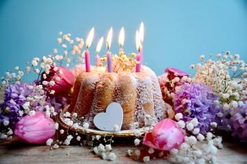 Grußkarte - Kuchen - Geburtstagskuchen