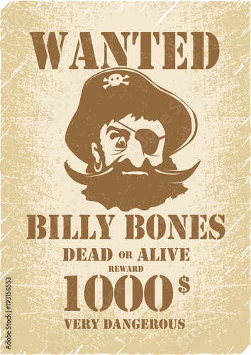 Pirates Wanted Poster Template Pirate Childrens Party