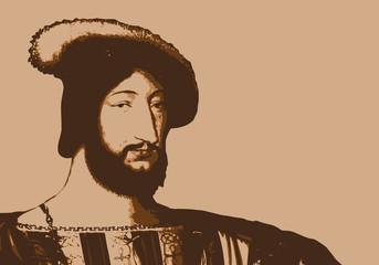 François 1er - portrait - roi de France - personnage historique - personnage célèbre - histoire