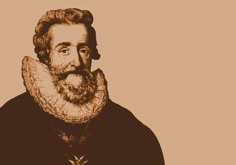 Henri IV - portrait - roi de France - personnage historique - personnage célèbre - histoire