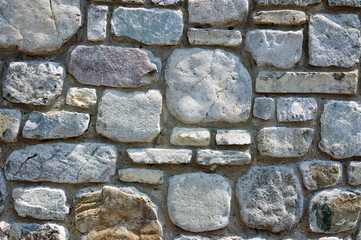 Old stone wall background texture close up 159