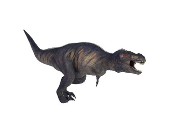 3D Illustration of a Dinosaur Tyrannosaurus Rex on white background